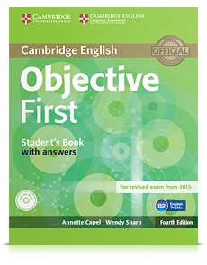 Korice knjige Objective First Fourth edition - Student's Book with answers with CD-ROM