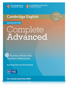 Korice knjige Complete Advanced Second edition - Teacher's Book with Teacher's Resources CD-ROM