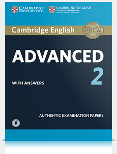 Korice knjige Cambridge English Advanced 2 Student's Book with Answers and Audio
