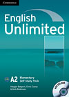 Korice knjige English Unlimited Elementary - Self-study Pack (Workbook with...