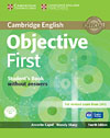 Korice knjige Objective First Fourth edition - Student's Book without answers with CD-ROM