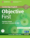 Korice knjige Objective First Fourth edition - Teacher's Book with Teacher's Resources CD-ROM