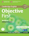 Korice knjige Objective First Fourth edition - Workbook without answers with Audio CD